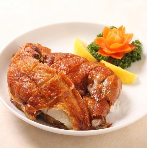 自家特製パリパリ鶏