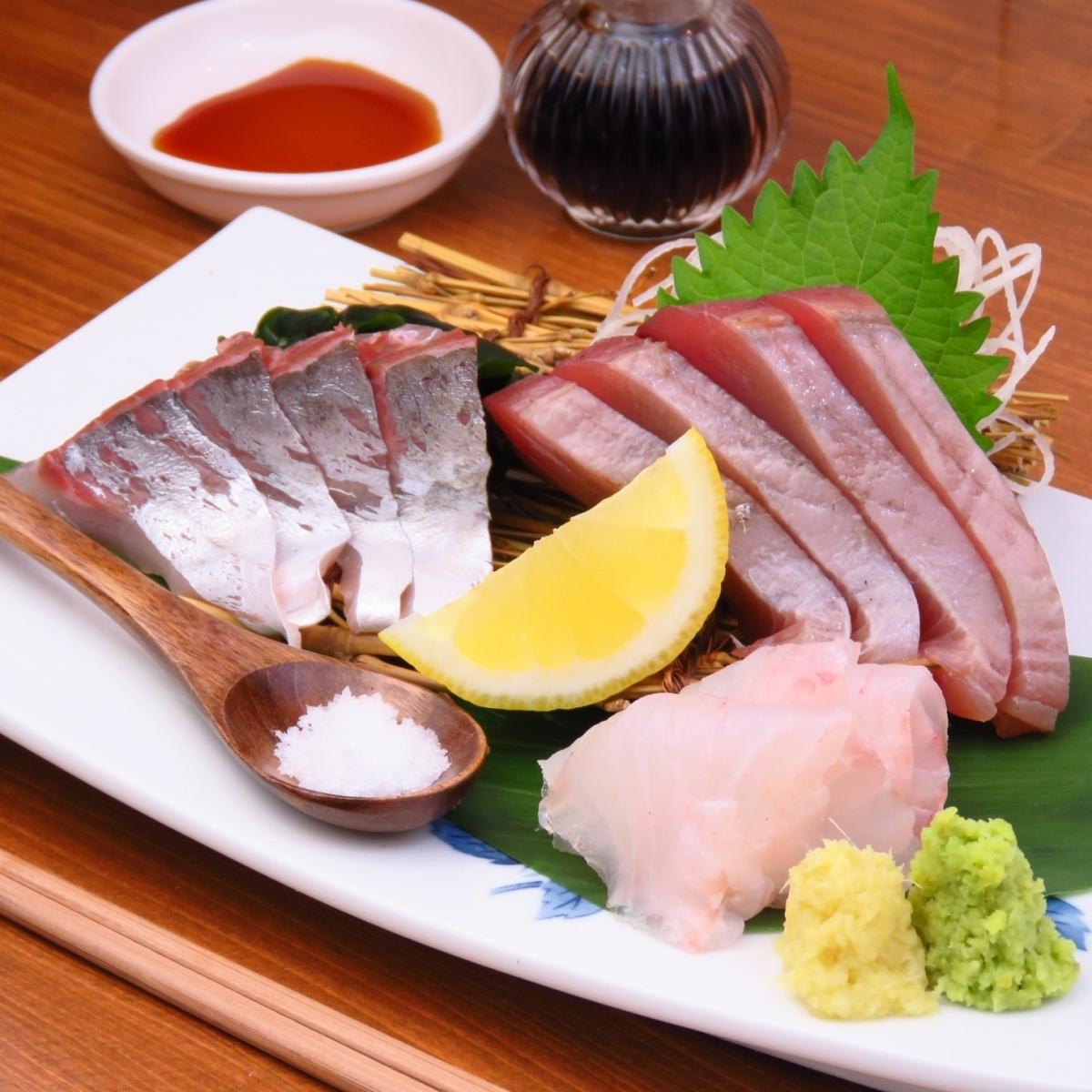 朝どれ鮮魚のお刺身盛り
