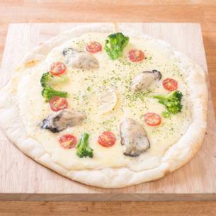 굴 크림 피자