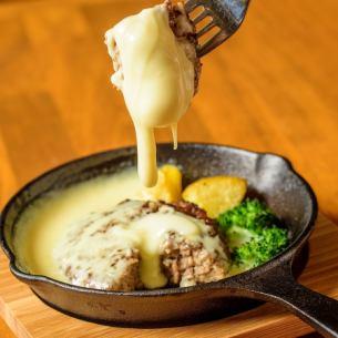 牛100%的汉堡奶酪火锅风格