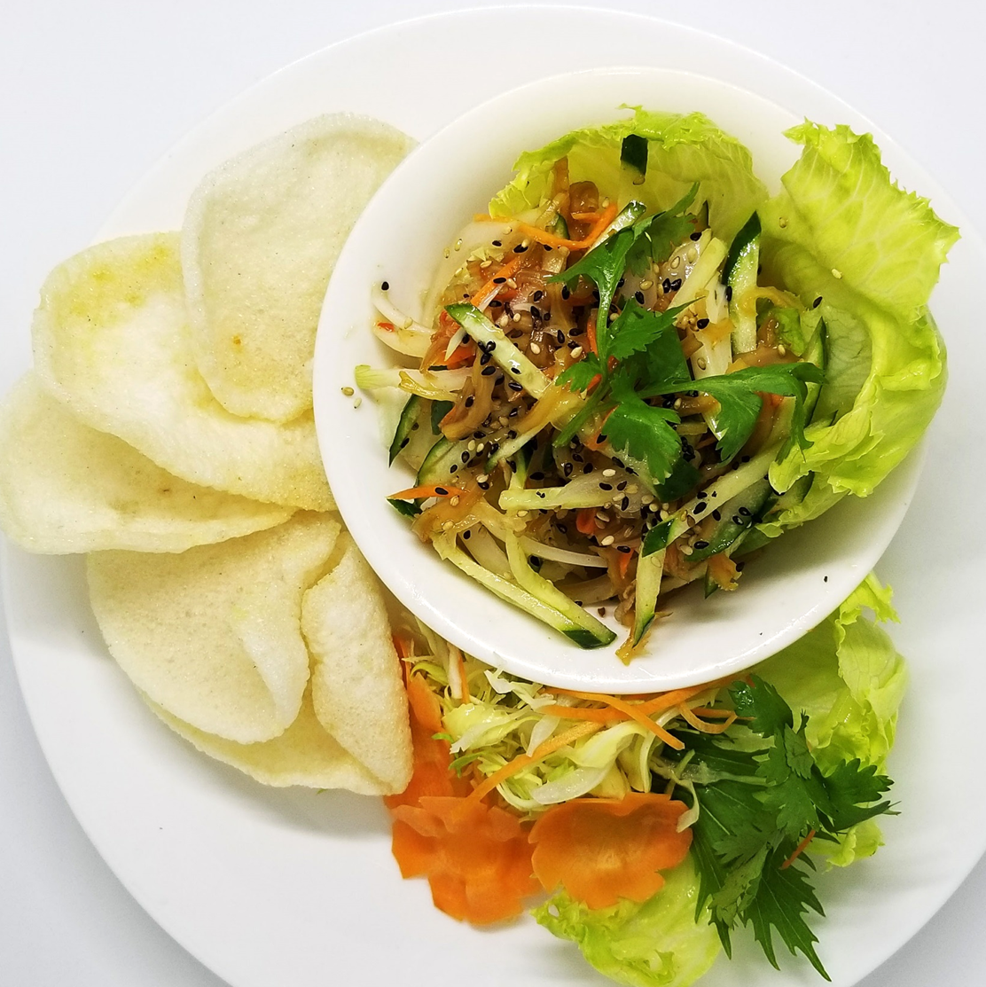海老と豚肉のパパイヤサラダ/くらげサラダ