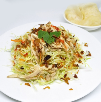 Cabbage and steamed chicken salad