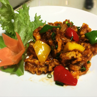Sweet and sour fried pork