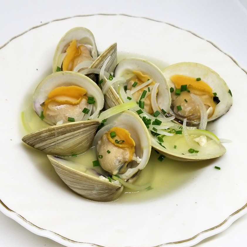 蛤の生姜蒸し/蛤のレモングラス蒸し