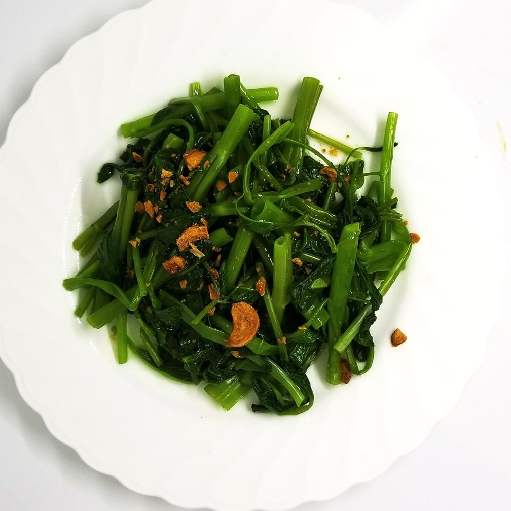 空芯菜とガーリック炒め/ブロッコリーと牛肉炒め