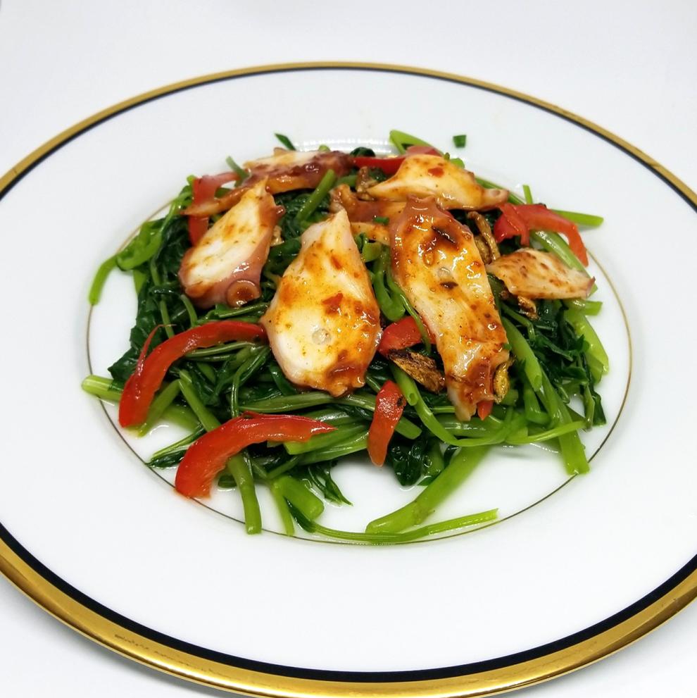 炒章鱼和章鱼/西兰花和炒海鲜