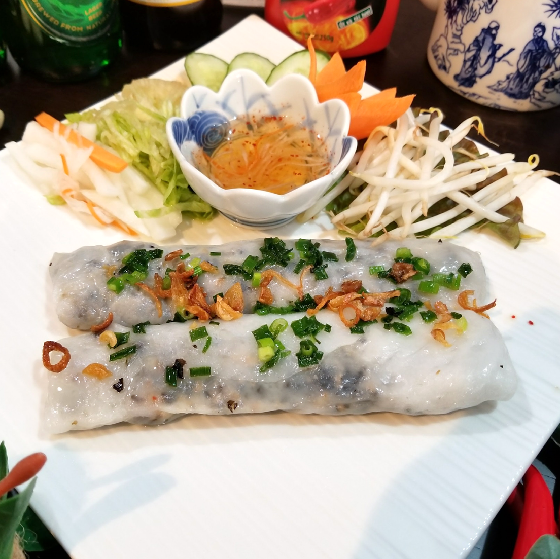 虾和蒸猪肉