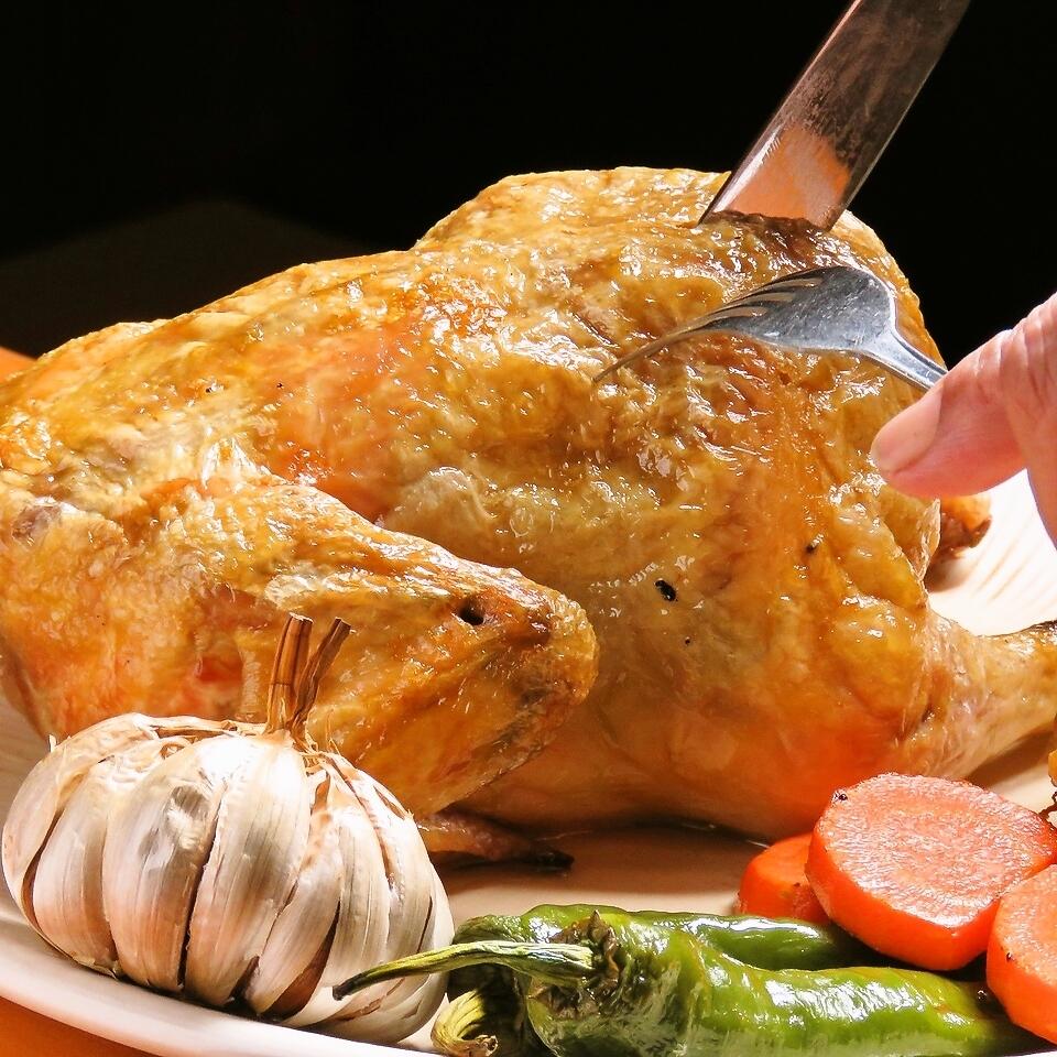 驚訝!雞肉全烤雞肉!深層蔬菜配抓飯