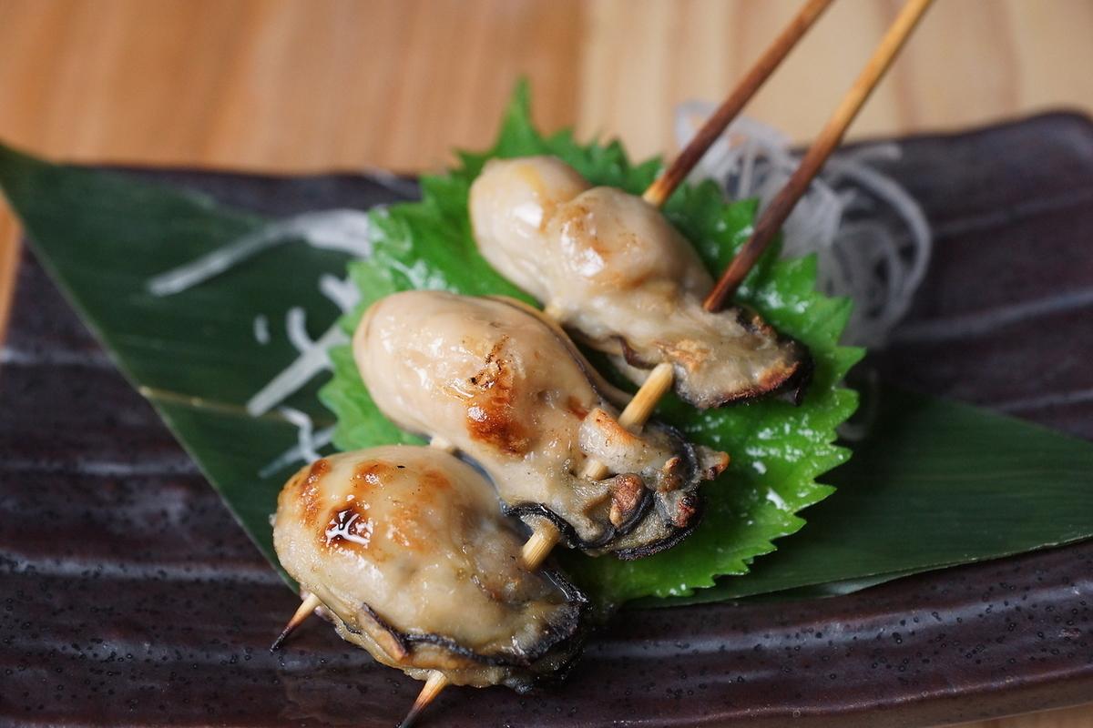 牡蠣串(鹽)