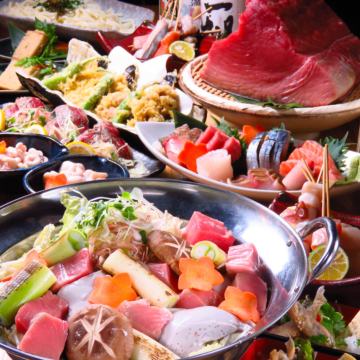 We also have a banquet plan centered on boasting fish skewers ♪