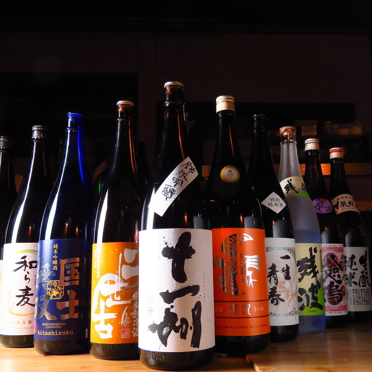 Prepared with sake selected from the whole country according to the season ♪