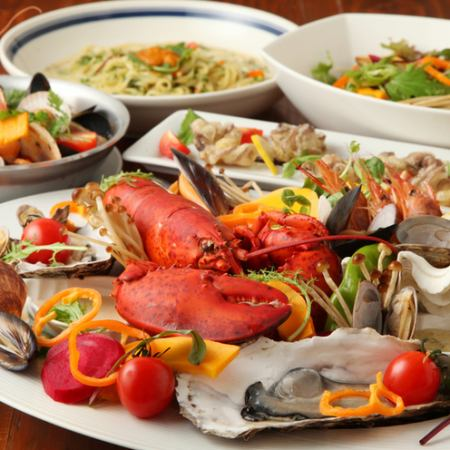 【6 items in total】 Specialties! Seafood Platter Course ☆ 3500 yen