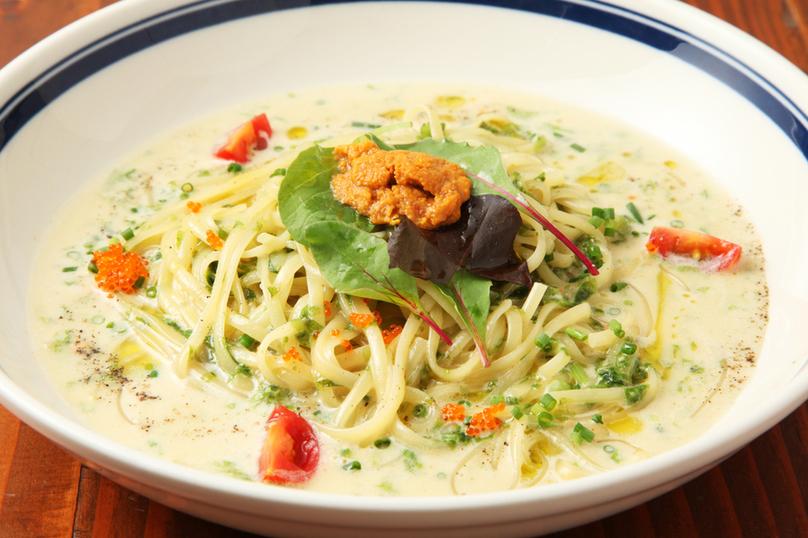 Sea urchin cream pie pasta