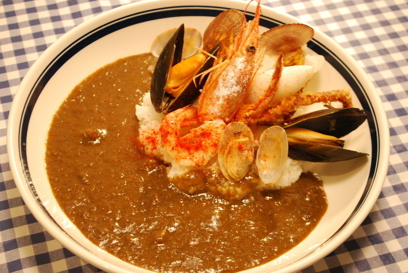 Seafood full seafood curry