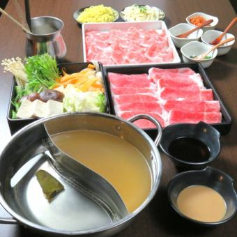 "【Abundance of Three Great Wagyu ♪】 Shabu Shabu Jin Special! Rare site ""Omi beef brisket all you can eat course""!"