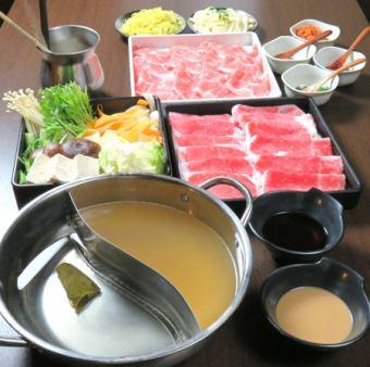 "【Abundance of Three Great Wagyu ♪】 Shabu Shabu Jin Special! Rare site ""Omi beef brisket all you can eat course""!"