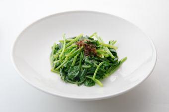 カニ玉/茄子と味噌炒め/ほうれん草XO醤炒め