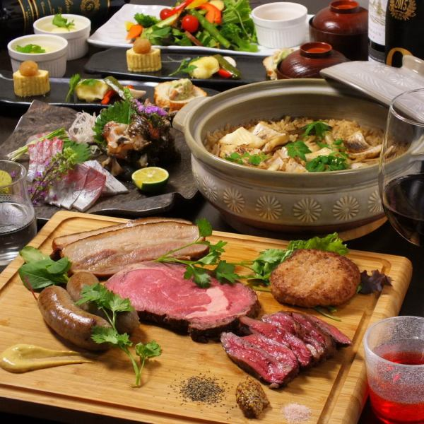 "Anniversary · various banquets ◎ whole and western eclectic course 【5000 yen】 ""Meat dishes soup"" Including 6 dishes · 2 hours with all you can drink"