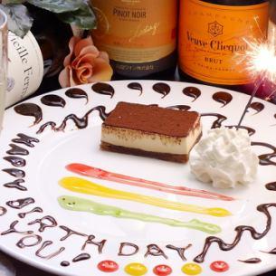 誕生日、記念日ケーキプレートサービス!