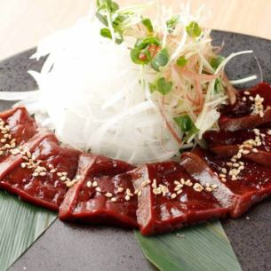 ★ rare !! horse liver sashimi