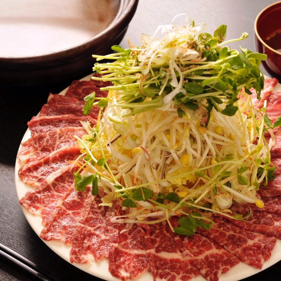 "Kumamoto direct delivery! Superb item · Healthy pot ""Horses shabu"""