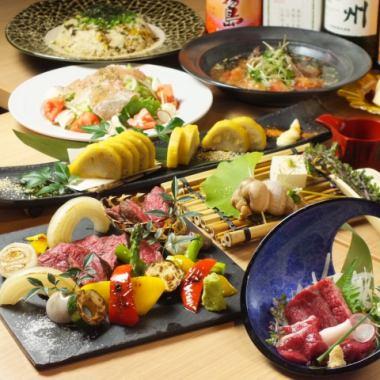 [满意度98%!]马生鱼片和受欢迎的人的集合,如番茄炒出来[蓟当然5000日元(共8道菜)]