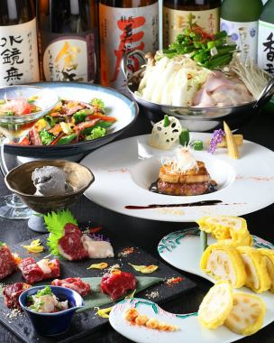 【Specialties! Horse Shabu is advantageous!】 Gourmet horse-shabu-shabu course which condensed Kumamoto's umami 6,500 yen (7 items in total)
