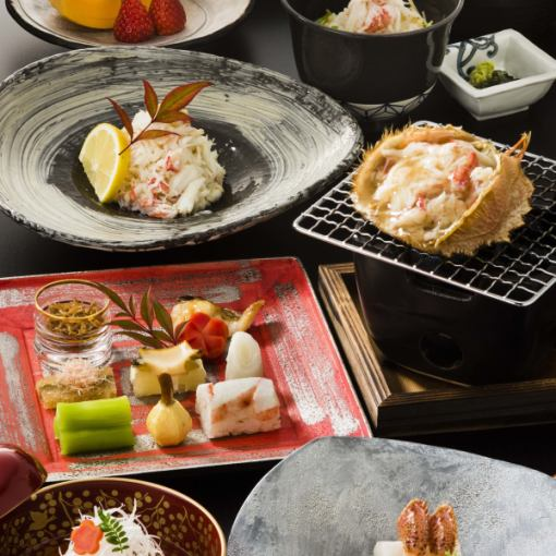 "Active hair crab course ""Maple (maple) 15,660 yen in"" ""Pine (Matsu) 18,360 yen large"""