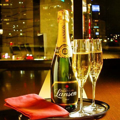 [Anniversary, Birthday] A luxurious moment at the best location where you can overlook the night view of Ginza.
