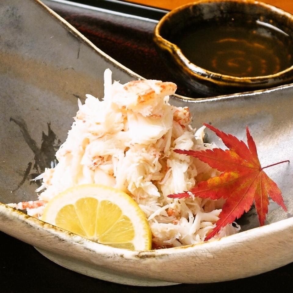 提供新鲜出炉的蟹肉菜肴
