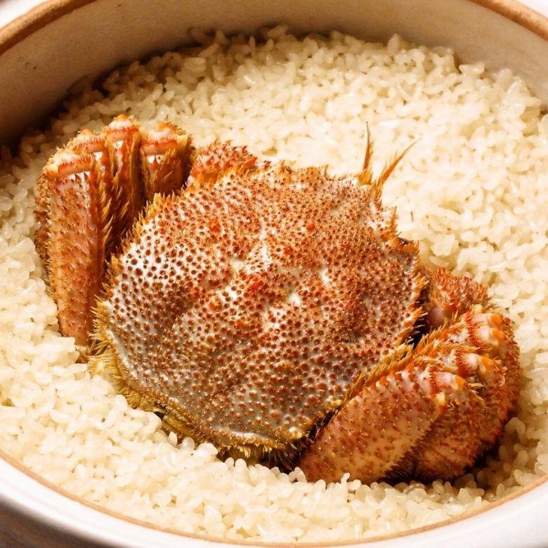 蟹姿炊き込み飯