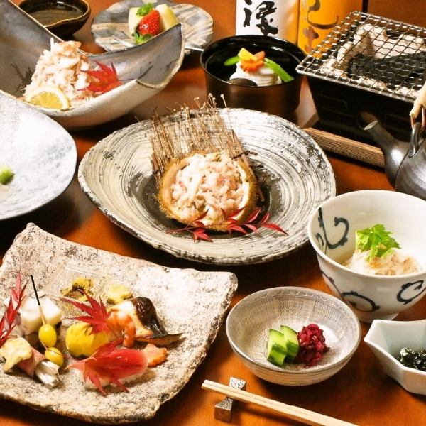 Live hair bowl and bowl shabu course all eight dishes 18000 yen