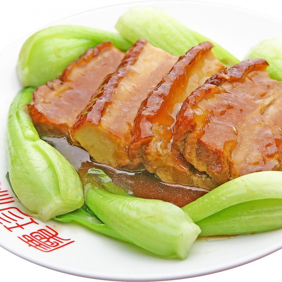 Simmered pork belly sauce