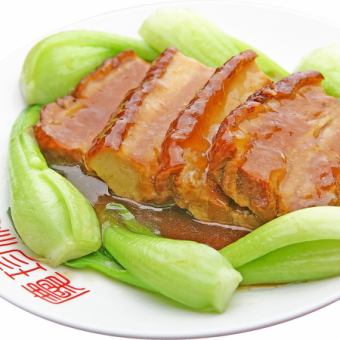 Simmered pork belly sauce
