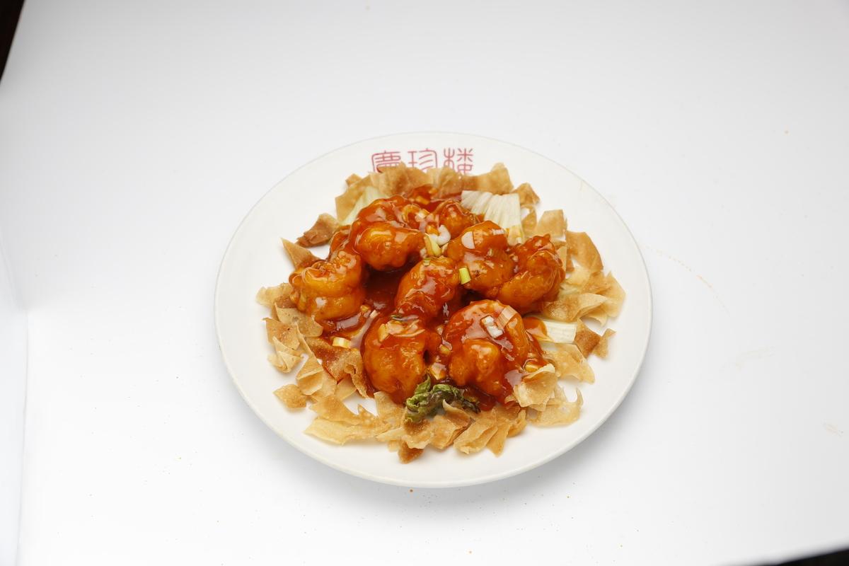 辣椒醬的大蝦
