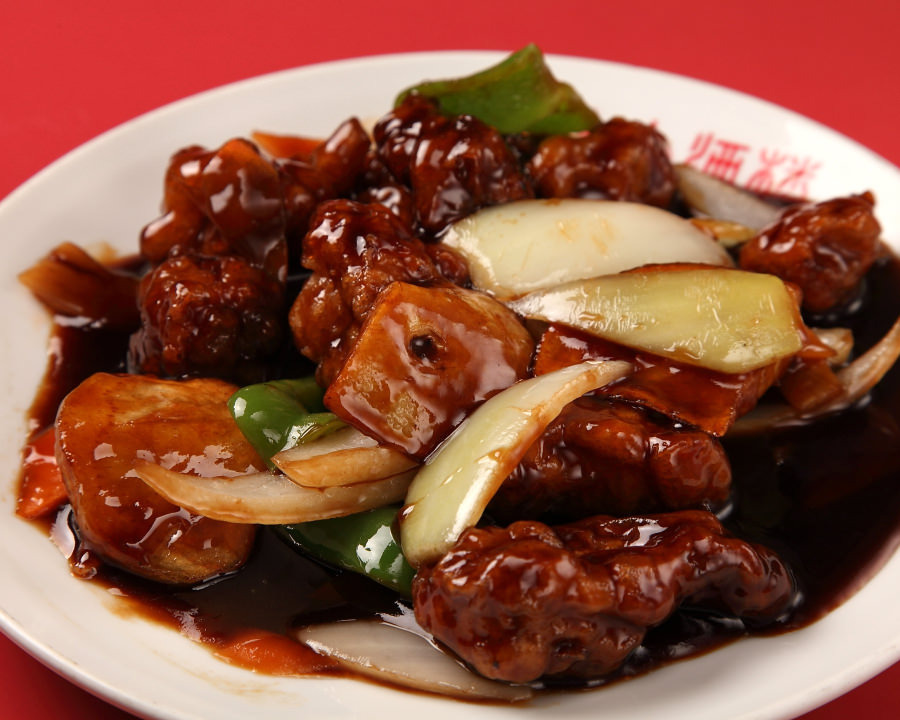 Black vinegar sweet and sour pork