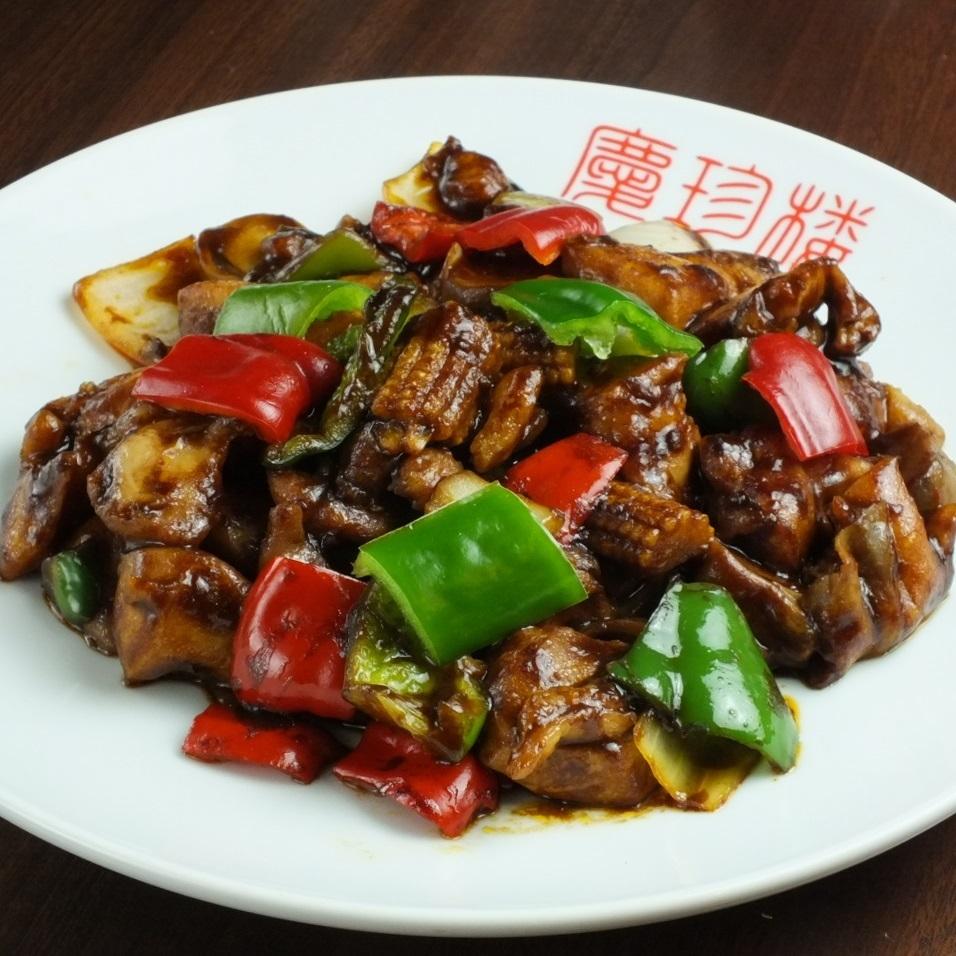 用味噌炒中國雞