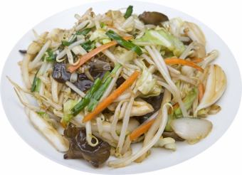 Stir-fried meat vegetables
