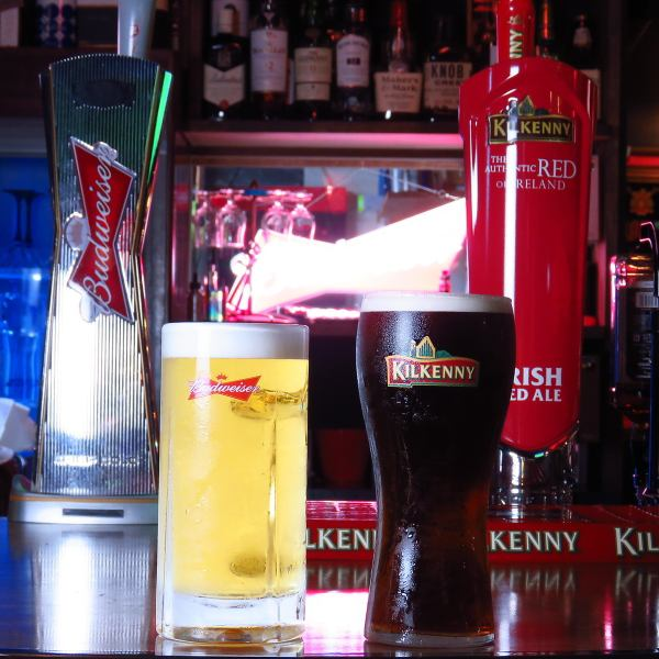 Budweiser and kilkney in barrel draft beer!