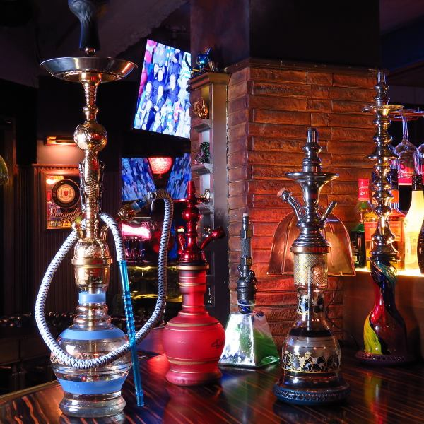 You can enjoy authentic Shisha / Hooker (water cigarette) ★