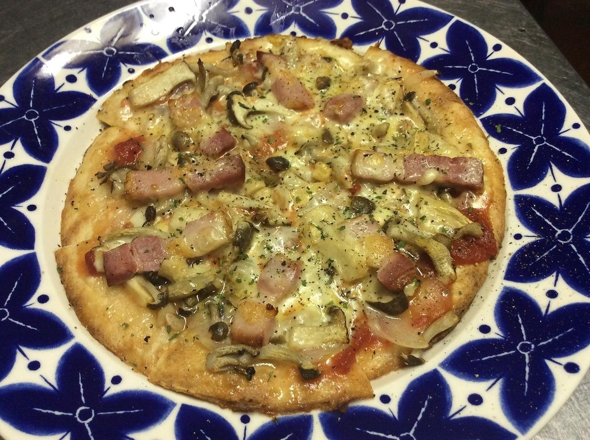 버섯 피자