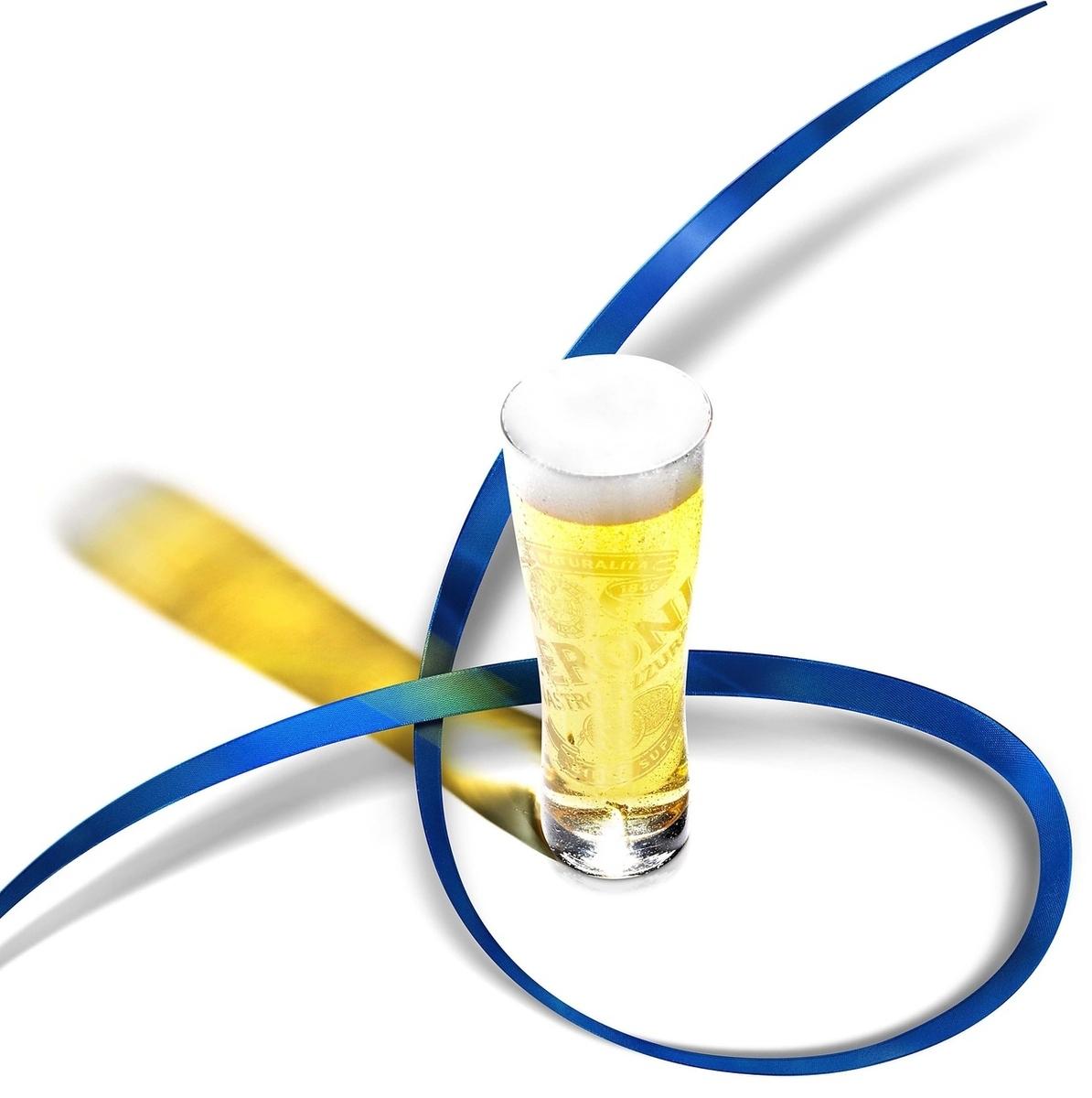 "Premium Italian beer named ""Blue Ribbon"""