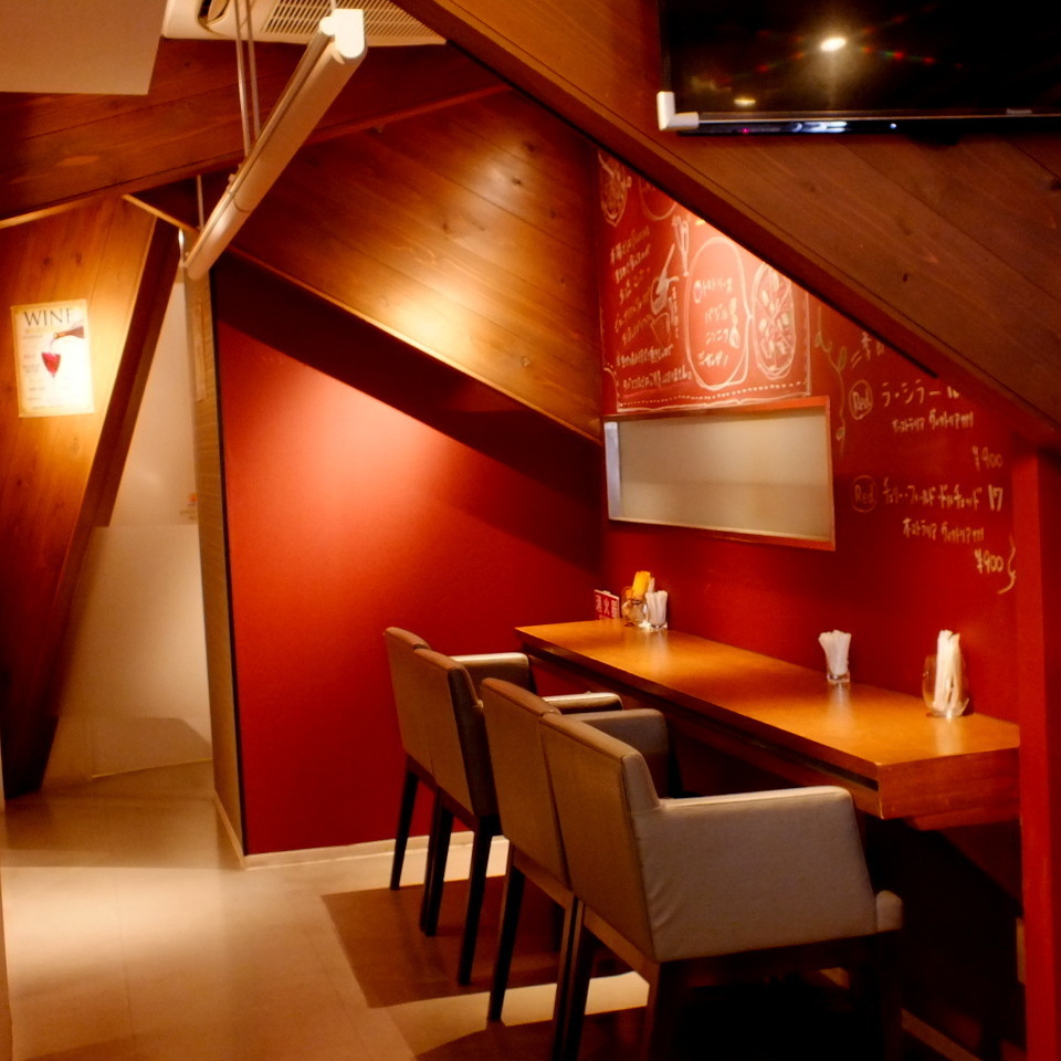 You can enjoy your meal in a spacious restaurant.