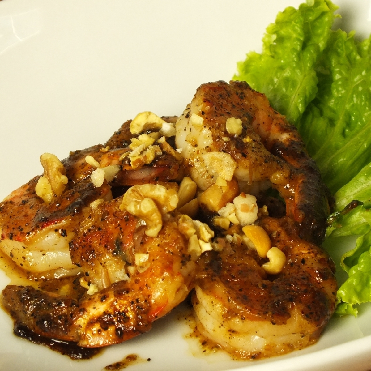 Stir-fried shrimp with Singaporean pepper [Dry]