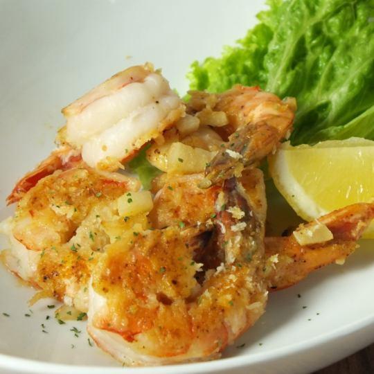 Spicy garlic shrimp 800 yen