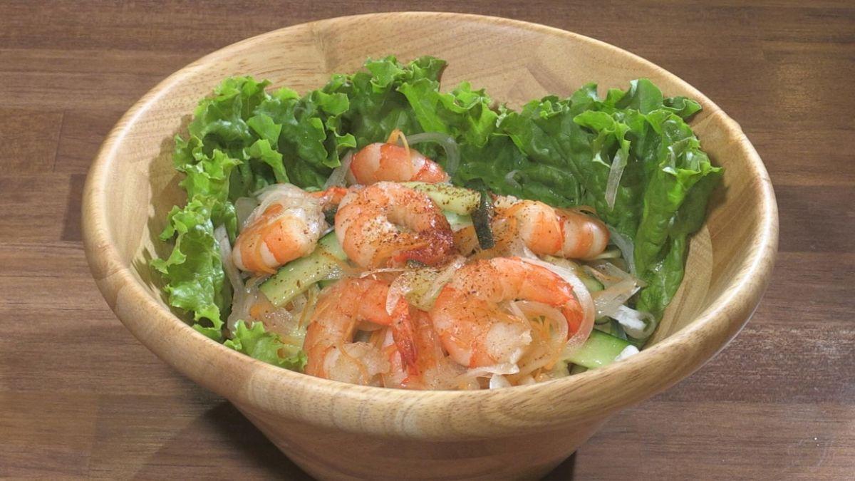 Ethnic-style Ebisarada sweet spicy Noodle dressing