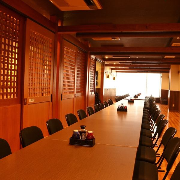 Equipped with large and small private room on the second floor.Up to a maximum of 70 people.Renewal to the table & Rochea seats this time 2F tatami room can sit comfortably.
