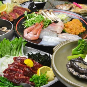 【Ultimate Course】 Activated Abalone · Noodle · Udon Shabu ★ 3 hour premium [drinking] 10000 yen (tax excluded) 【9 items in total】