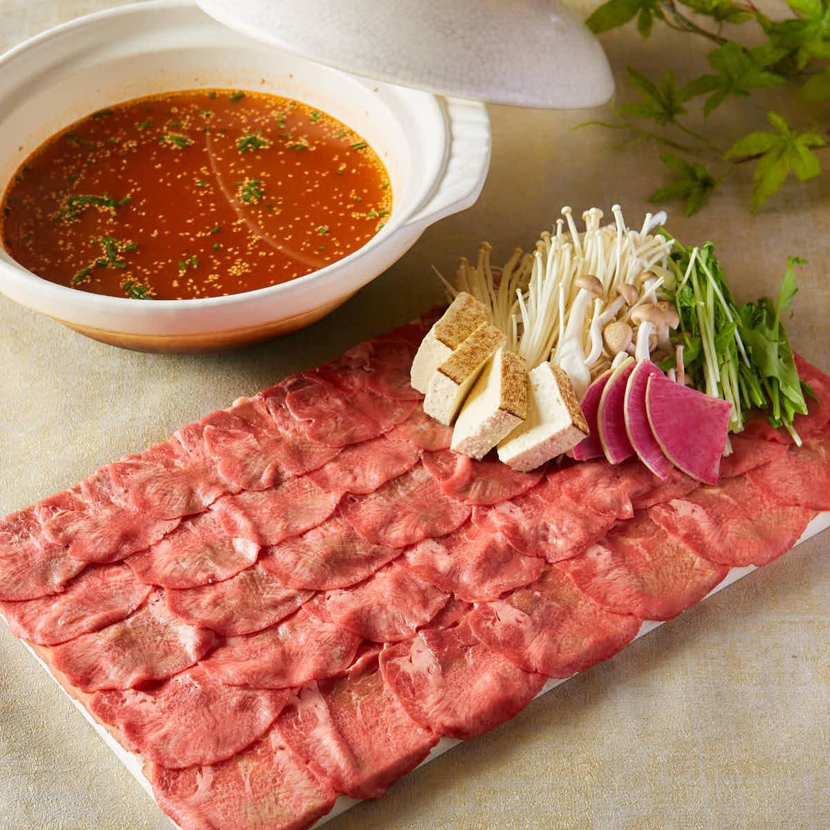 Beef tongue shabu shabu - hemp beach juice ~