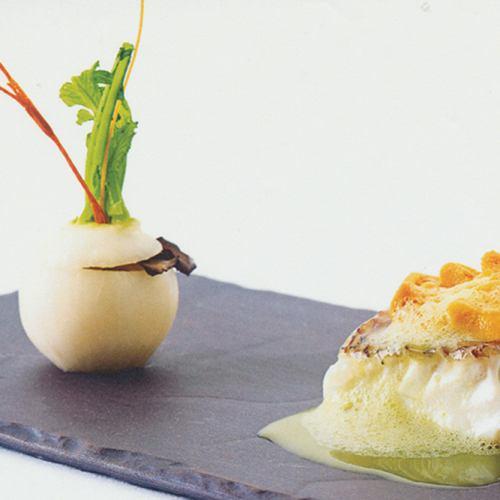 【Lunch course】肉と魚のWメイン!京懐石フレンチコース◆全6品